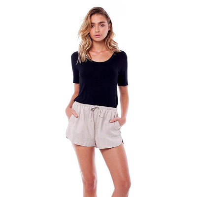Linen Shorts - Cream Shorts Rhythm 2