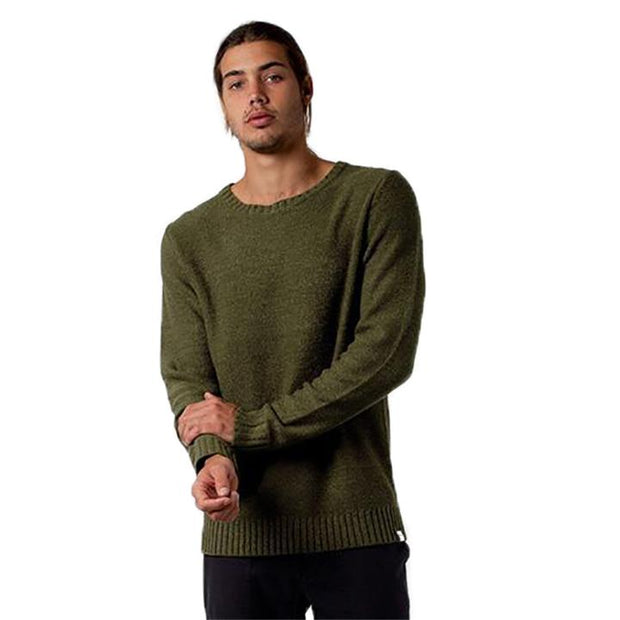Men's Classic Knit Pullover - Olive