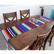 Mexican Table Runner - Serape Blue Table Runners West Path