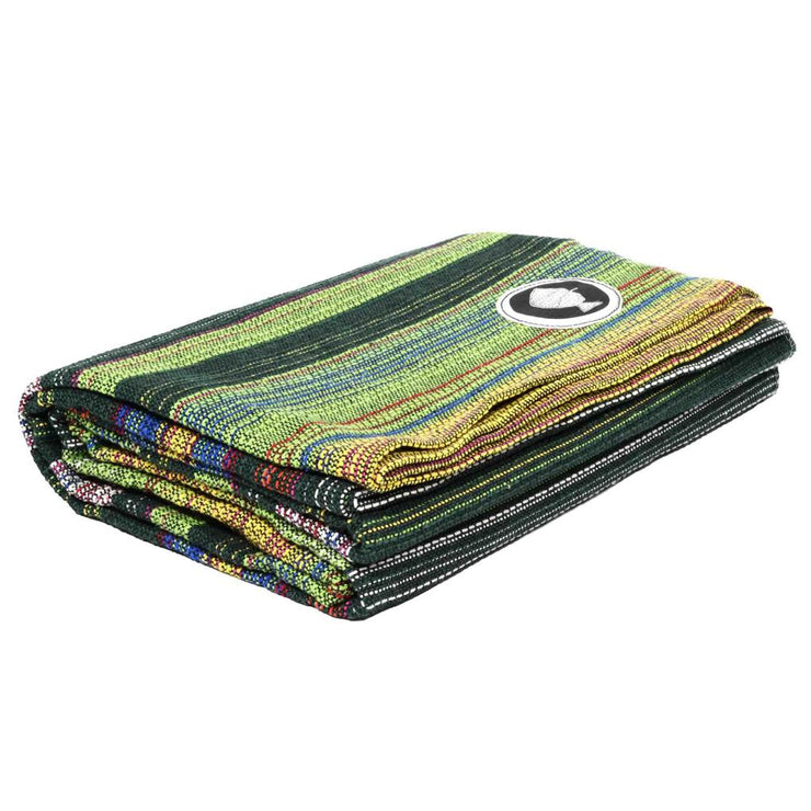 Póvoa Yoga Blanket Aqua Green Póvoa Yoga Blankets West Path