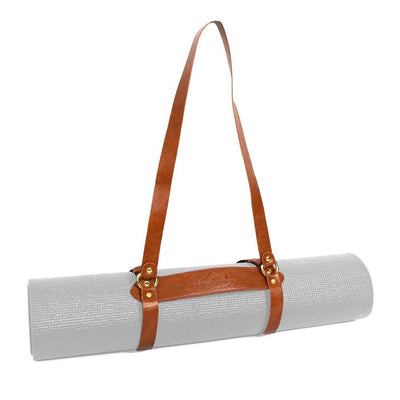 Vegan Leather Yoga Mat Carrier / Blanket Strap Blanket Carrier West Path