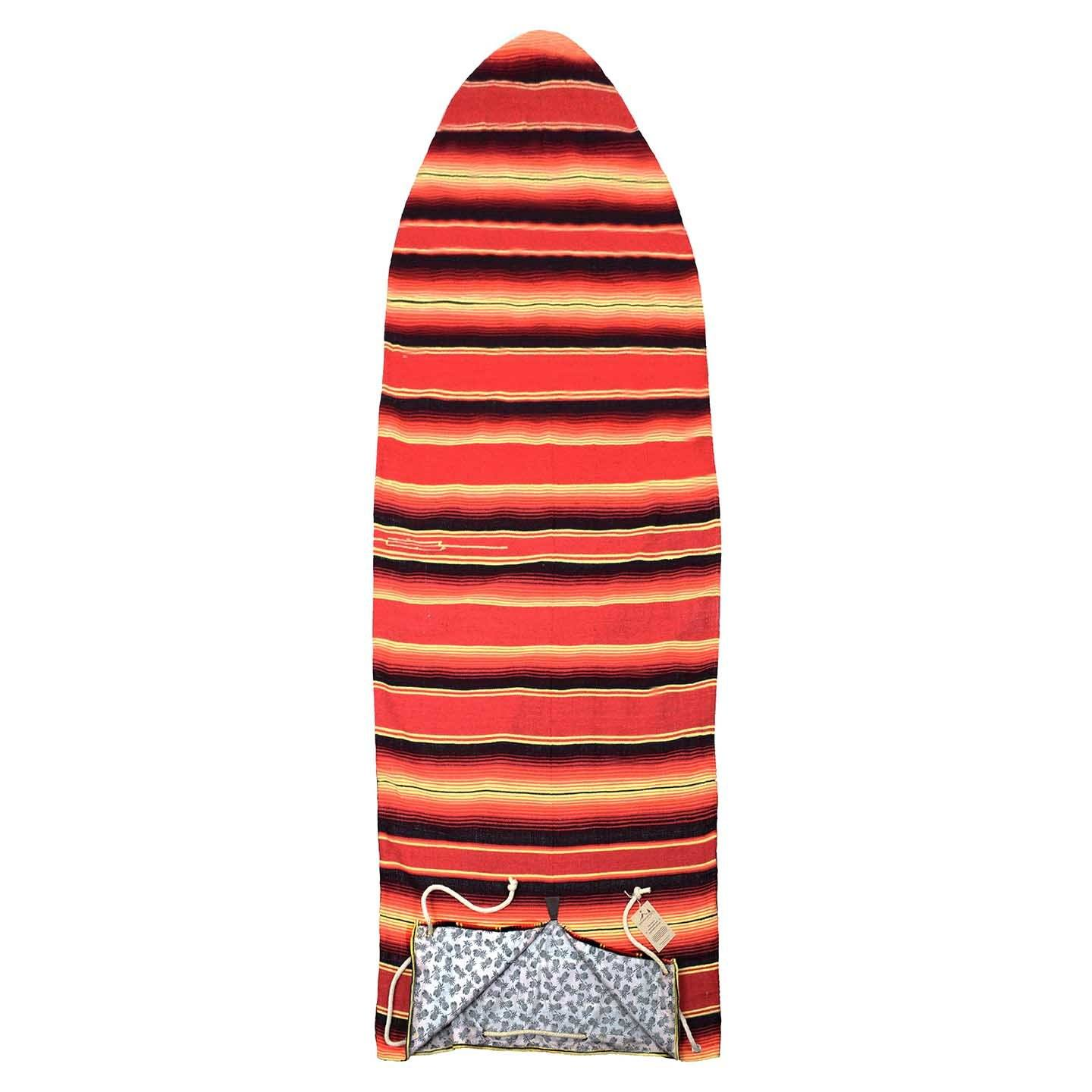 surfboard bag surfboard sock red striped handmade sewn eco up to 6