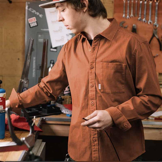 Organic Button Up - Clay Woven Shirts Topo Designs