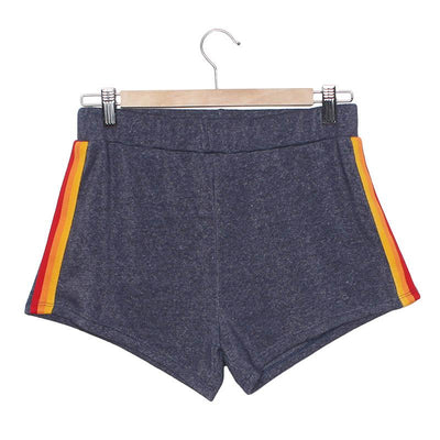 Vintage High-Waisted Shorts - Grey Shorts Camp Collection S