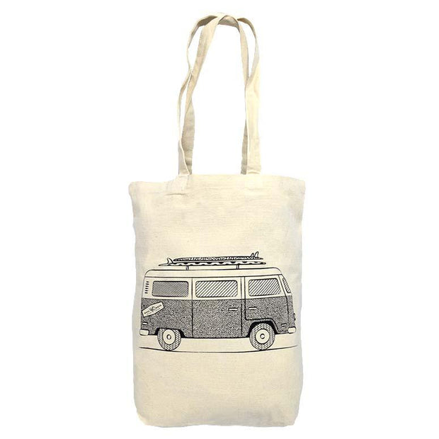 VW bus Organic Cotton Canvas Tote Bag