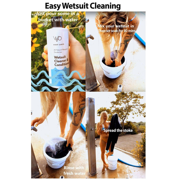 Wetsuit Cleaner & Deodorizer - All Natural Wetsuit Cleaner West Path