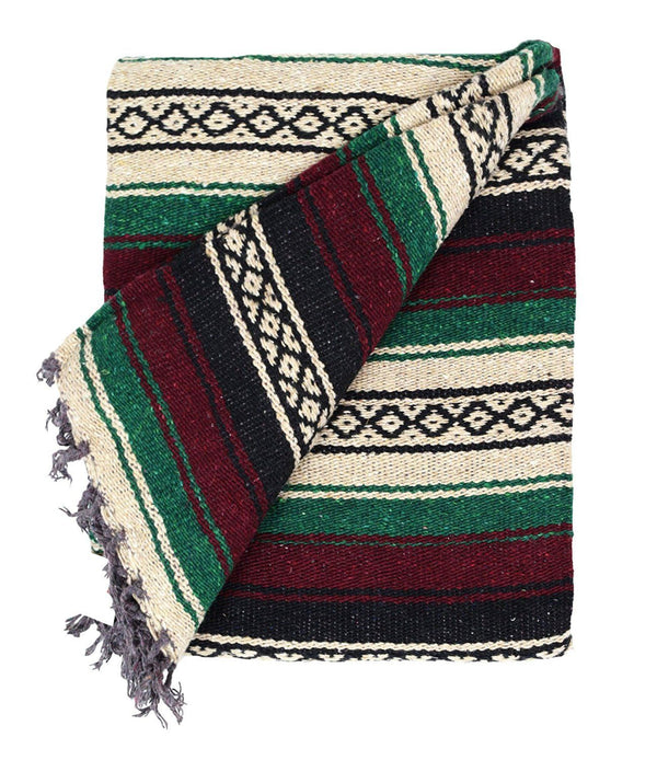 Baja Blanket Thick Mexican Blanket For Outdoors Or Home