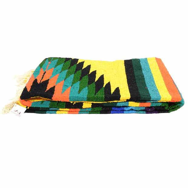 Yellow Aztec Diamond Mexican Blanket Aztec Diamond Blankets West Path