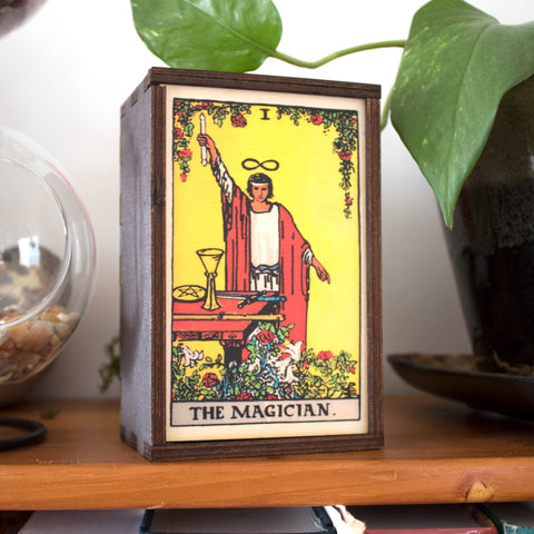 The Magician Tarot Card Card Wooden Stash Box Tarot Card Box