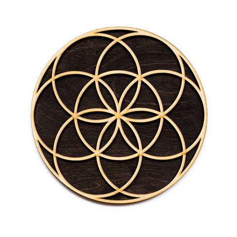 Seed of Life Laser Cut Wooden Wall Art Sacred Geometry