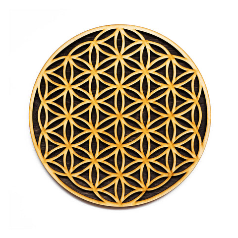 Flower of Life Laser Cut Wood Wall Art Decoration Sacred Geometry