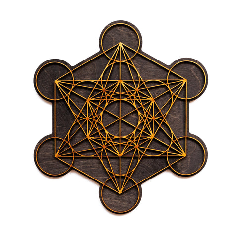 Metatrons Cube Sacred Geometry Laser Cut Wall Art Decoration 6in 10in 16in