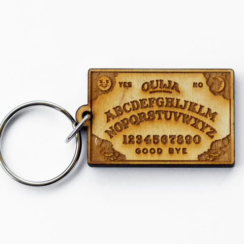 Ouija Board Wood Keychain