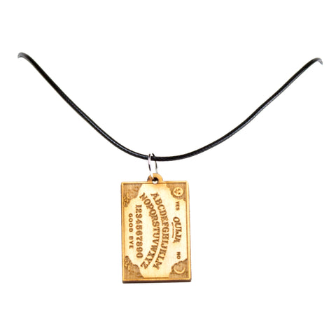Ouija Board Wooden Necklace Pendant