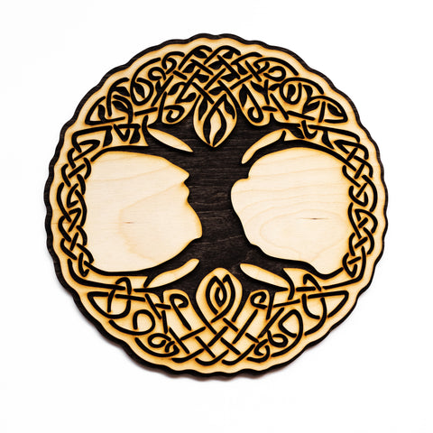 Tree of Life Laser Cut Wall Art Decoration Celtic Design three sizes 6in 10in 16in