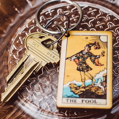 The Fool Tarot Card Keychain