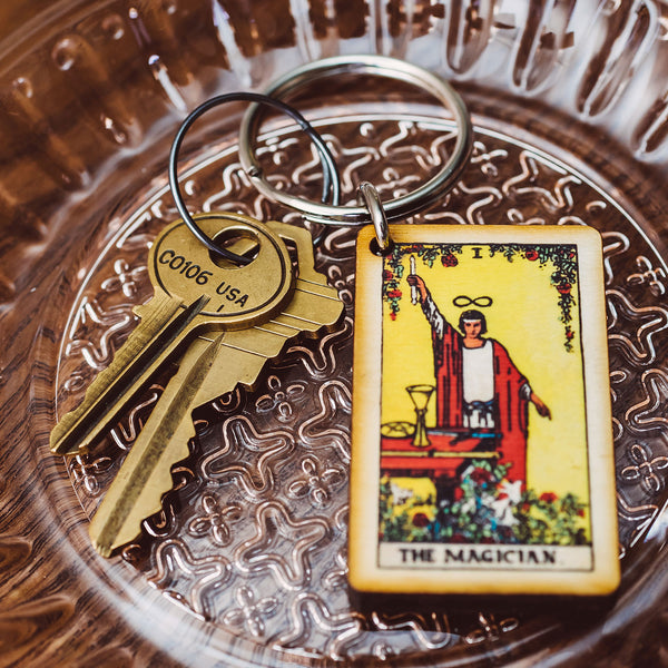 The Magician Tarot Card Keychain