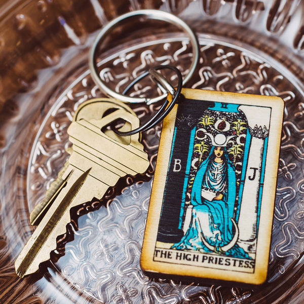 The High Priestess Tarot Card Keychain