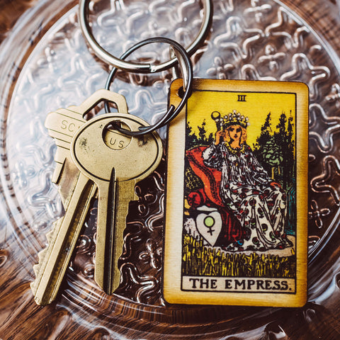 The Empress Tarot Card Keychain