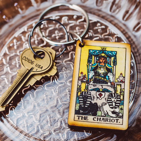 The Chariot Tarot Card Keychain