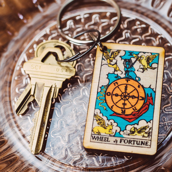 The Wheel of Fortune Tarot Card Keychain