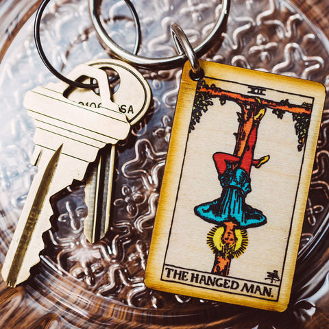 The Hanged Man Tarot Card Keychain