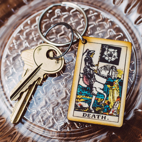 The Death Tarot Card Keychain