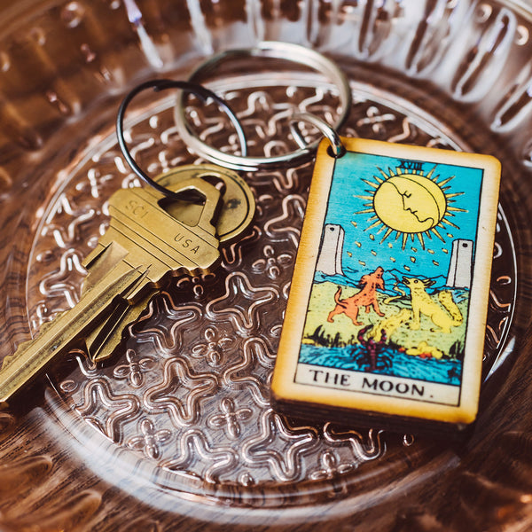 The Moon Tarot Card Keychain