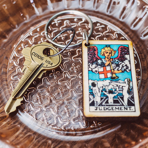 Judgement Tarot Card Keychain