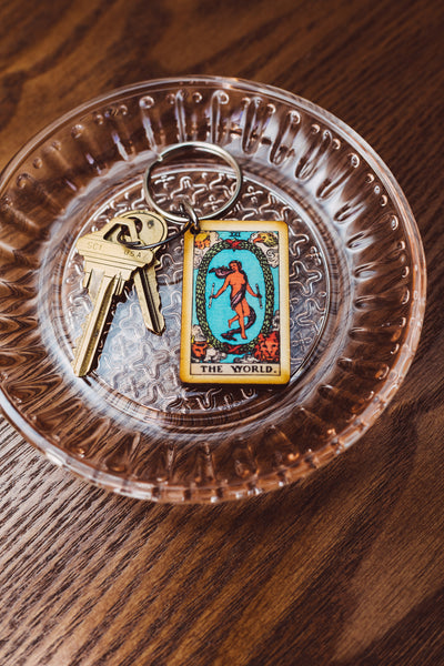 The World Tarot Card Keychain