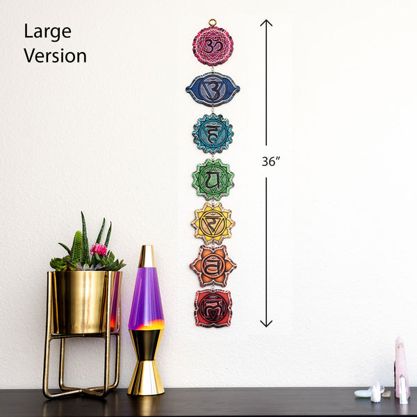 Chakra Laser Cut Wooden Wall Art Hanging Decoration