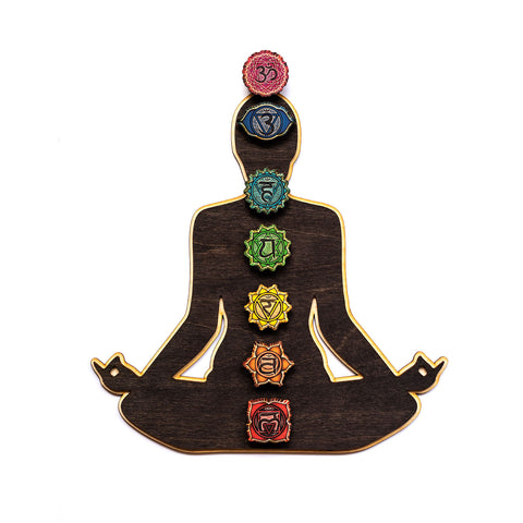 Chakra Sequence Laser Cut Wooden Wall Art