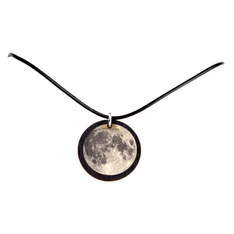 Full Moon Wooden Necklace