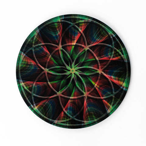 Seed of Life Laser Cut Full Color Crystal Grid Art Sacred Geometry