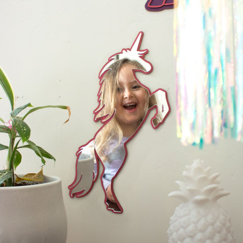 Unicorn Wall Art Mirror Wall Decor