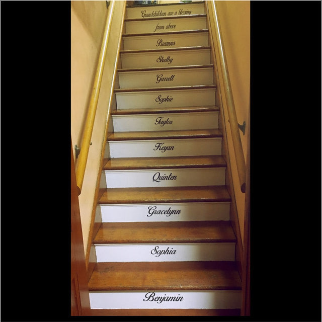 Custom Stair Decals