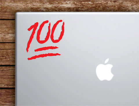 100 Emoji Laptop Apple Macbook Car Quote Wall Decal Sticker Art Vinyl Inspirational Motivational Funny 1 hunnid