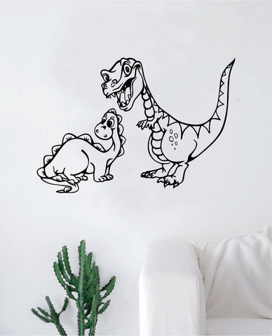 2 Dinosaurs Wall Decal Sticker Vinyl Art Bedroom Living Room Decor Teen Boy Girl Nursery Children Museum