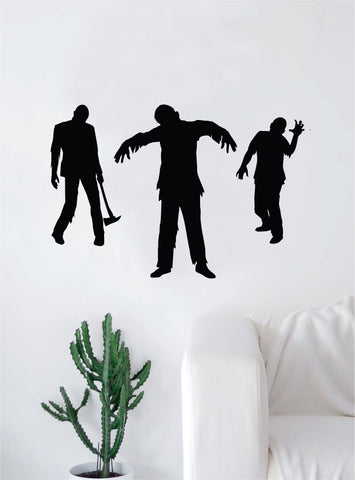 3 Zombies Art Wall Decal Sticker Vinyl Living Room Bedroom Decor Teen Skull Halloween