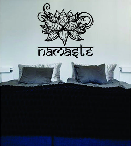 Namaste Lotus Flower Version 2 Design Sports Decal Sticker Wall Vinyl Decor Art OM - boop decals - vinyl decal - vinyl sticker - decals - stickers - wall decal - vinyl stickers - vinyl decals