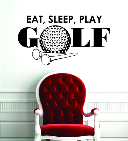 Eat Sleep Play Golf Design Sports Decal Sticker Wall Vinyl Decor Art - boop decals - vinyl decal - vinyl sticker - decals - stickers - wall decal - vinyl stickers - vinyl decals