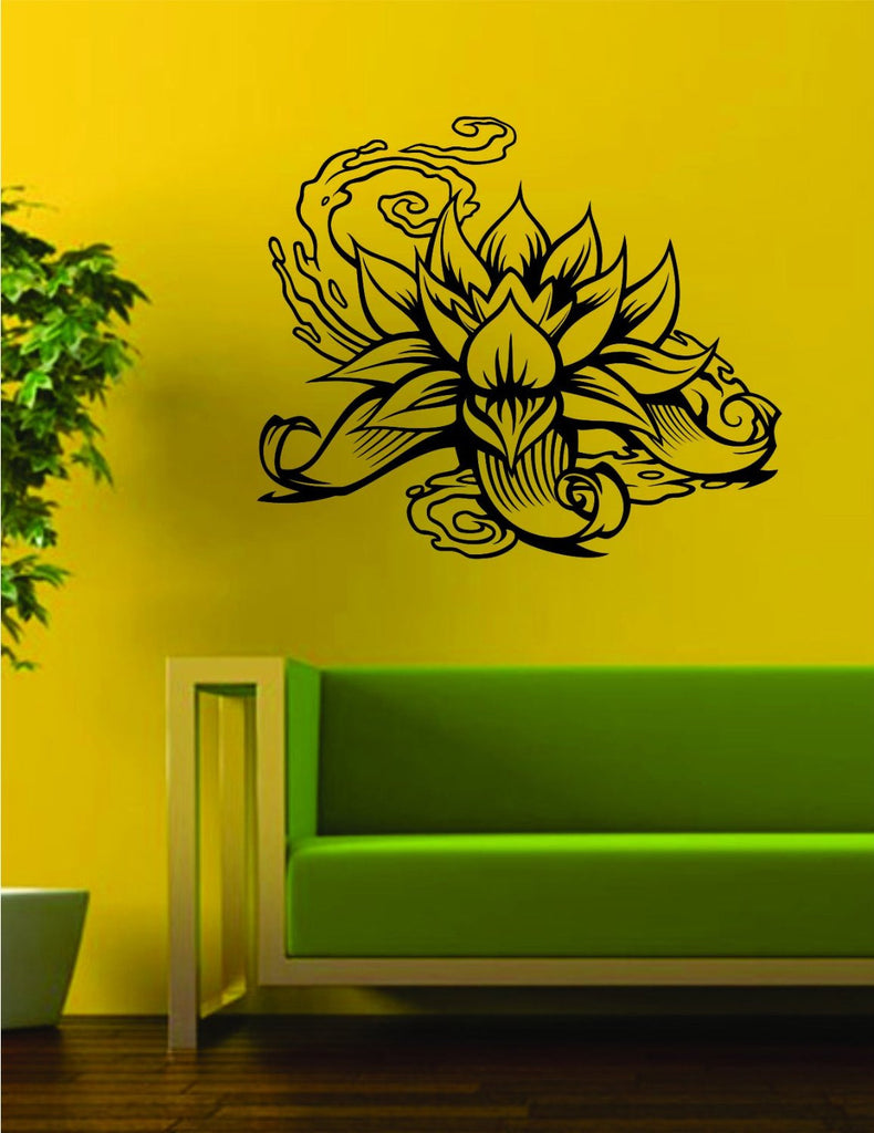 Lotus Flower Version 2 Design Sports Decal Sticker Wall Vinyl Decor ...