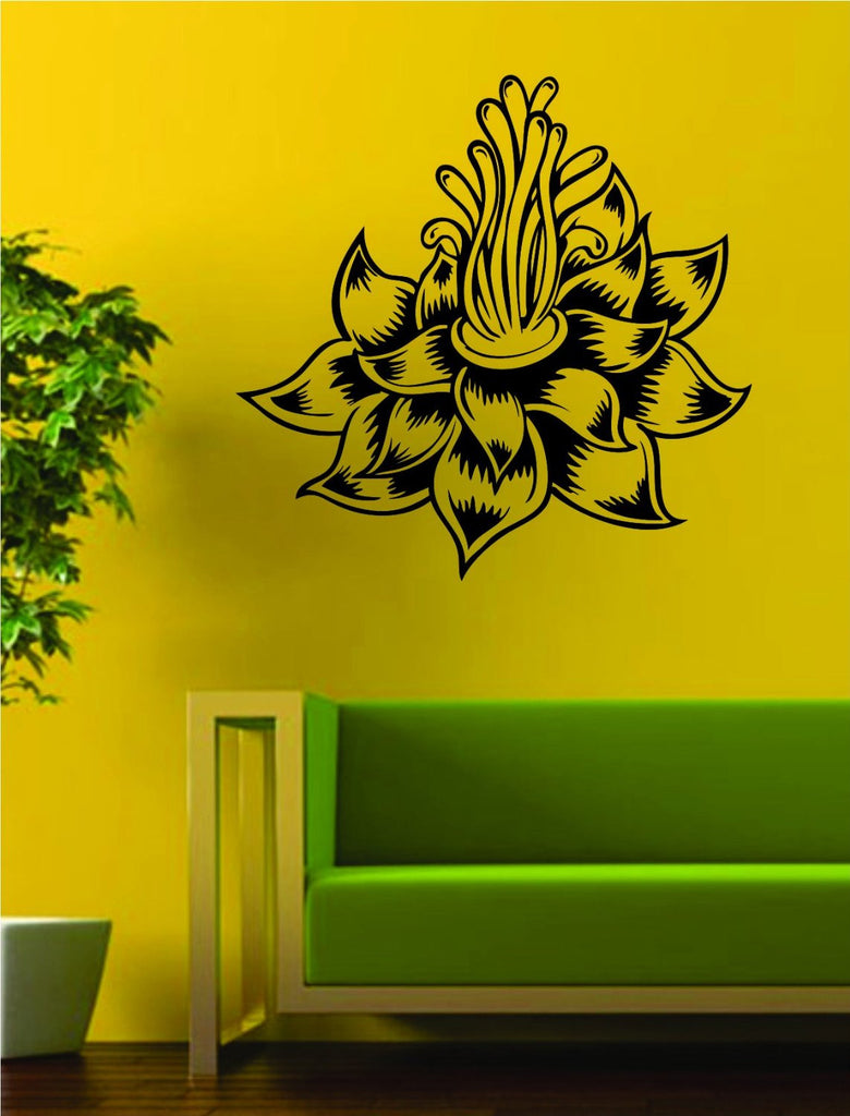 Lotus Flower Version 4 Design Sports Decal Sticker Wall Vinyl Decor ...