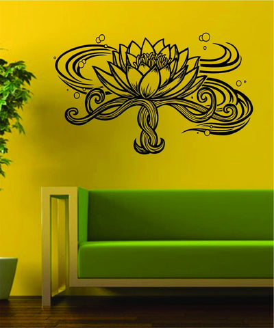 Lotus Flower Version 3 Design Sports Decal Sticker Wall Vinyl Decor Art Namste Om - boop decals - vinyl decal - vinyl sticker - decals - stickers - wall decal - vinyl stickers - vinyl decals