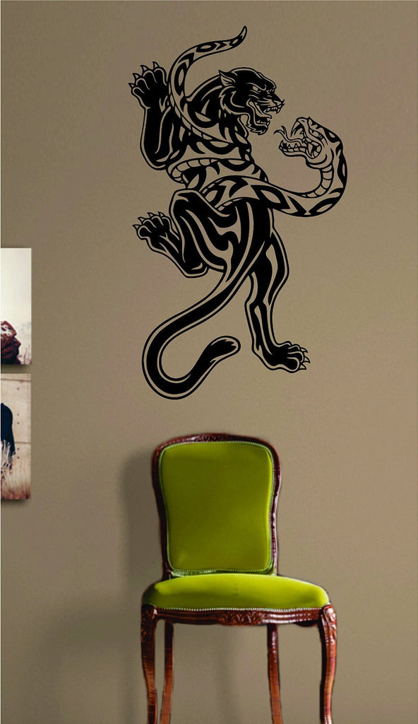 panther and snake animal tattoo design decal sticker wall vinyl