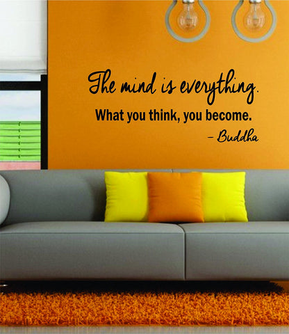 The Mind Is Everything v101 Wall Decal Sticker Room Art Vinyl Beautiful Yoga Hamsa Namaste Lotus Meditate Buddha Peaceful Love Inspirational