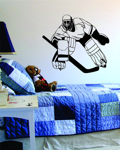 Hockey Goalie Version 2 Sports Desig Decal Sticker Wall Vinyl Decor Art - boop decals - vinyl decal - vinyl sticker - decals - stickers - wall decal - vinyl stickers - vinyl decals