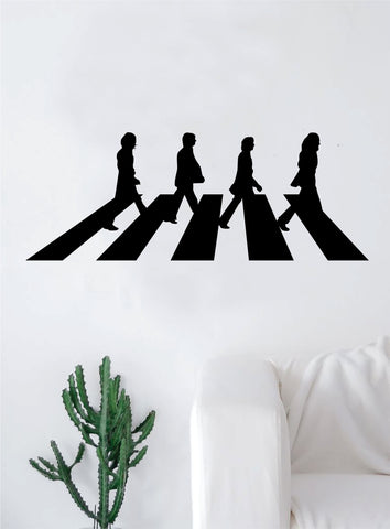 Abbey Road Large Decal Sticker Wall Vinyl Art Living Room Bedroom Decor Music John Lennon Paul McCartney The Beatles Inspirational