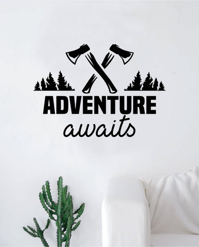Adventure Awaits V11 Quote Wall Decal Sticker Home Decor Vinyl Art Bedroom Teen Inspirational Kids Travel