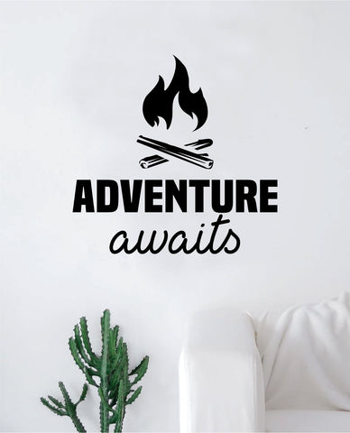 Adventure Awaits V12 Quote Wall Decal Sticker Home Decor Vinyl Art Bedroom Teen Inspirational Kids Travel